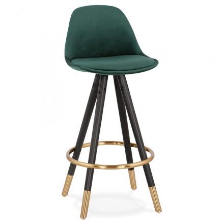 Design del set bar a media altezza in velluto nero e oro NEKO MINI piedi (verde)