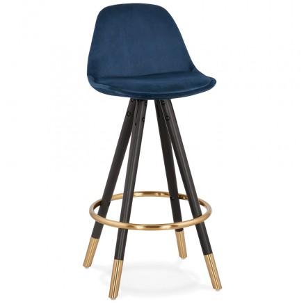 Design del set di barre a media altezza in velluto nero e oro NEKO MINI piedi (blu)