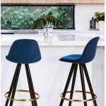 NEKO black and gold-footed velvet bar set (blue)