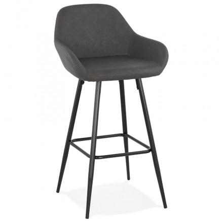 Bar Bar Set Design Bar Stuhl schwarze Füße NARNIA (dunkelgrau)