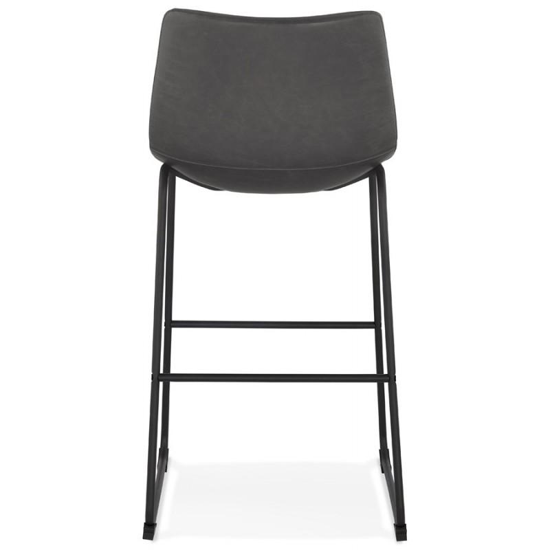 Tabouret de bar chaise de bar vintage pieds noirs JOE (gris foncé) - image 46226