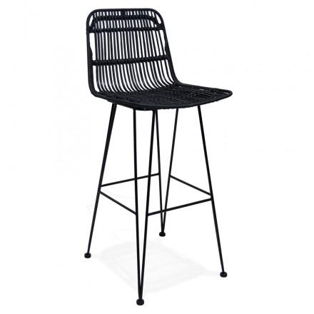 BAR Bar Schnupftabak Bar Stuhl in schwarzen Füßen PRETTY (schwarz)