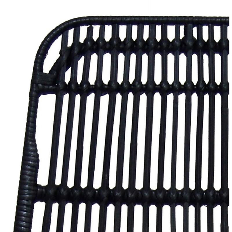 Tabouret de bar chaise de bar en rotin pieds noirs PRETTY (noir) - image 46257