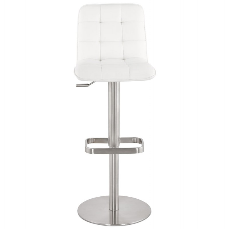 Anais Quilted And Adjustable Bar Stool White