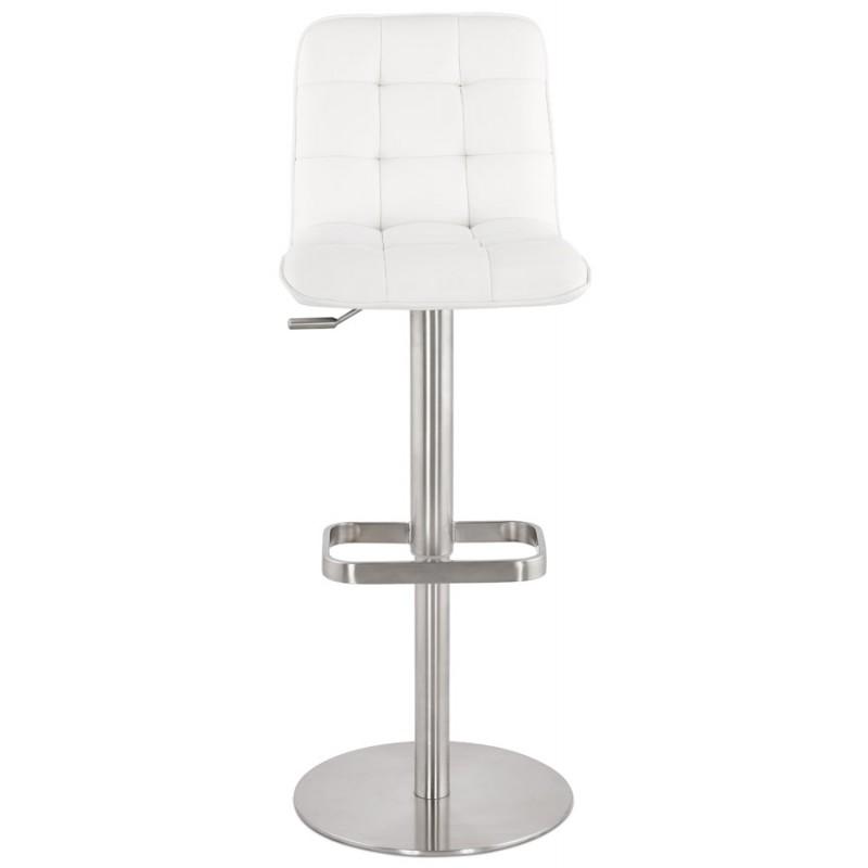 Tabouret de bar matelassé et réglable ANAIS (blanc) - image 46261