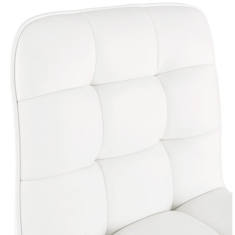 Tabouret de bar matelassé et réglable ANAIS (blanc) - image 46268