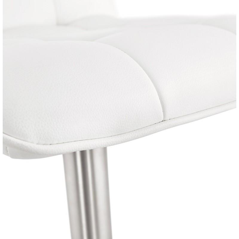 Tabouret de bar matelassé et réglable ANAIS (blanc) - image 46269