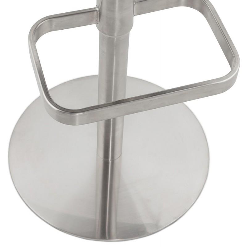 Tabouret de bar matelassé et réglable ANAIS (blanc) - image 46272