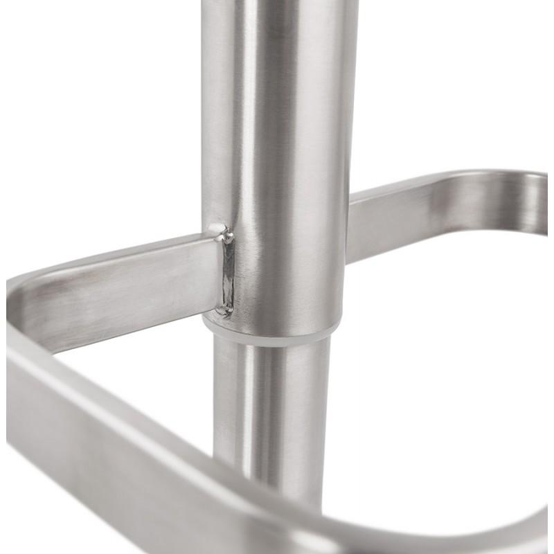 Tabouret de bar matelassé et réglable ANAIS (blanc) - image 46273
