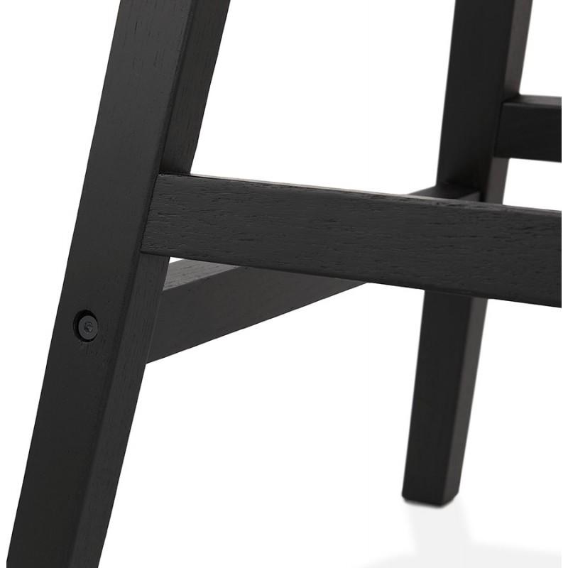 Tabouret de bar chaise de bar mi-hauteur design pieds noirs DAIVY MINI (marron clair) - image 46283