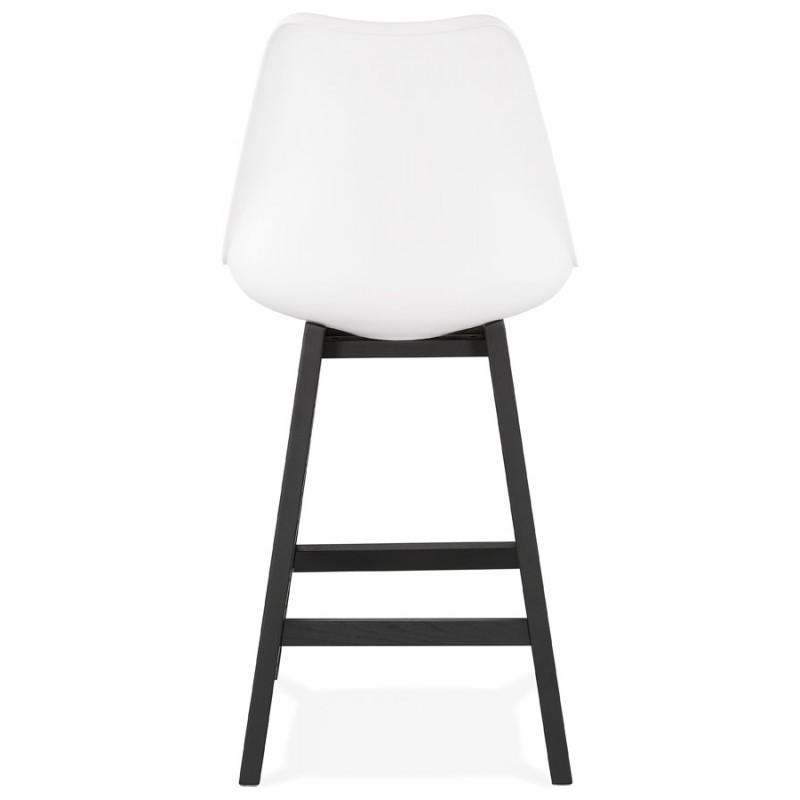 Tabouret de bar chaise de bar mi-hauteur design pieds noirs DYLAN MINI (blanc) - image 46309