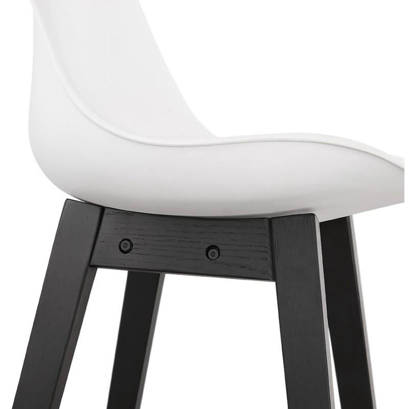 Tabouret de bar chaise de bar mi-hauteur design pieds noirs DYLAN MINI (blanc) - image 46312