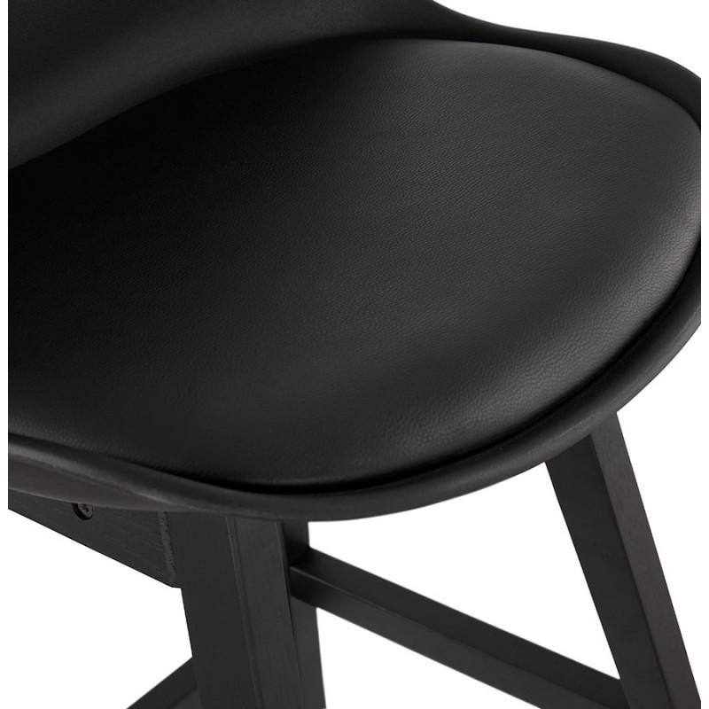 Tabouret de bar chaise de bar mi-hauteur design pieds noirs DYLAN MINI (noir) - image 46321