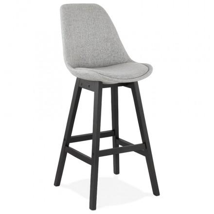 Conjunto de la barra de la silla de la barra del pie negro ILDA (gris claro)