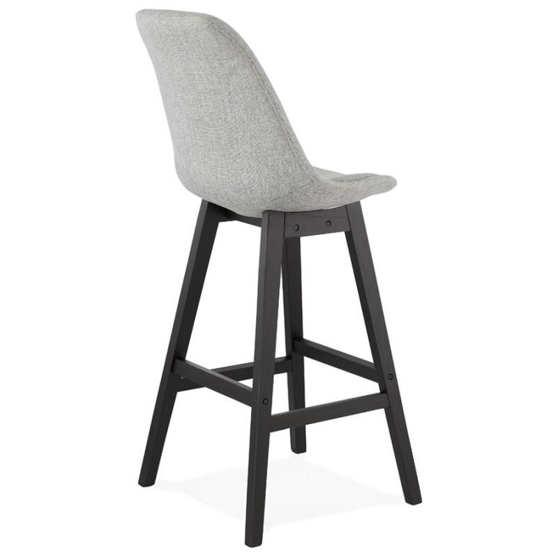 Tabouret de bar chaise de bar pieds noirs ILDA (gris clair) - image 46338
