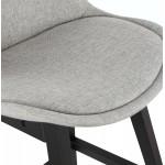Tabouret de bar chaise de bar pieds noirs ILDA (gris clair)