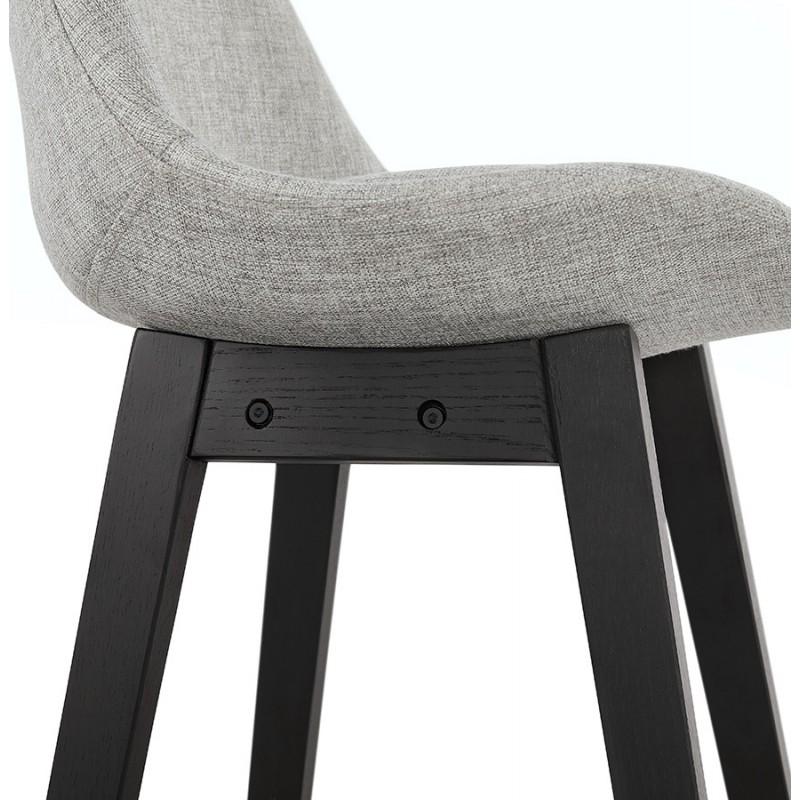 Tabouret de bar chaise de bar pieds noirs ILDA (gris clair) - image 46342