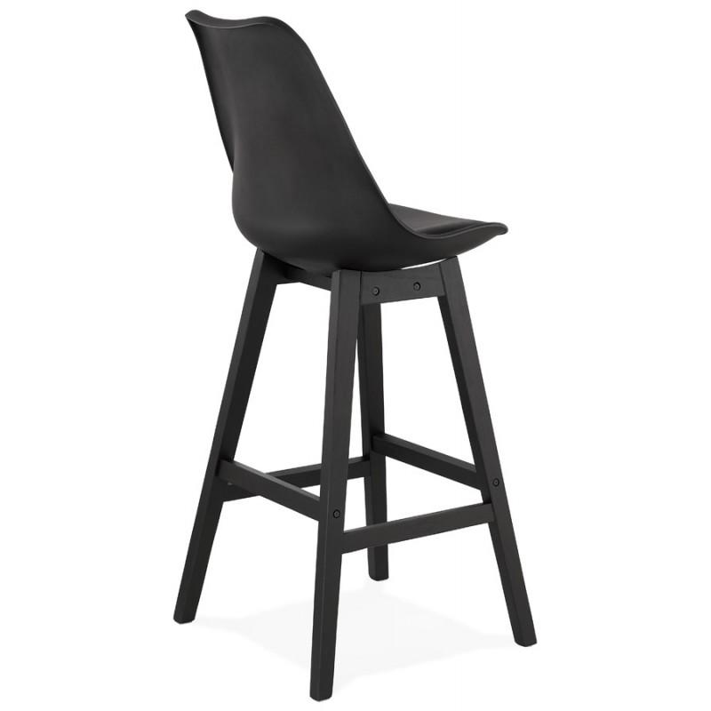 Tabouret de bar chaise de bar pieds noirs DYLAN (noir) - image 46365