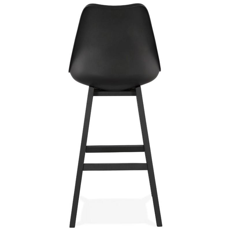 Tabouret de bar chaise de bar pieds noirs DYLAN (noir) - image 46366