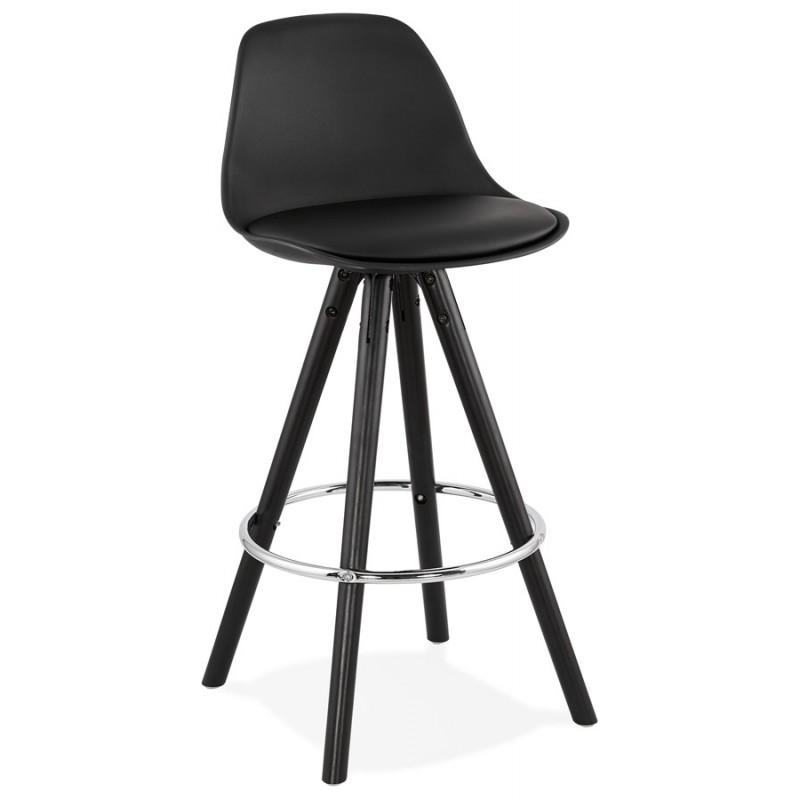Tabouret de bar mi-hauteur design pieds noirs OCTAVE MINI (noir) - image 46371