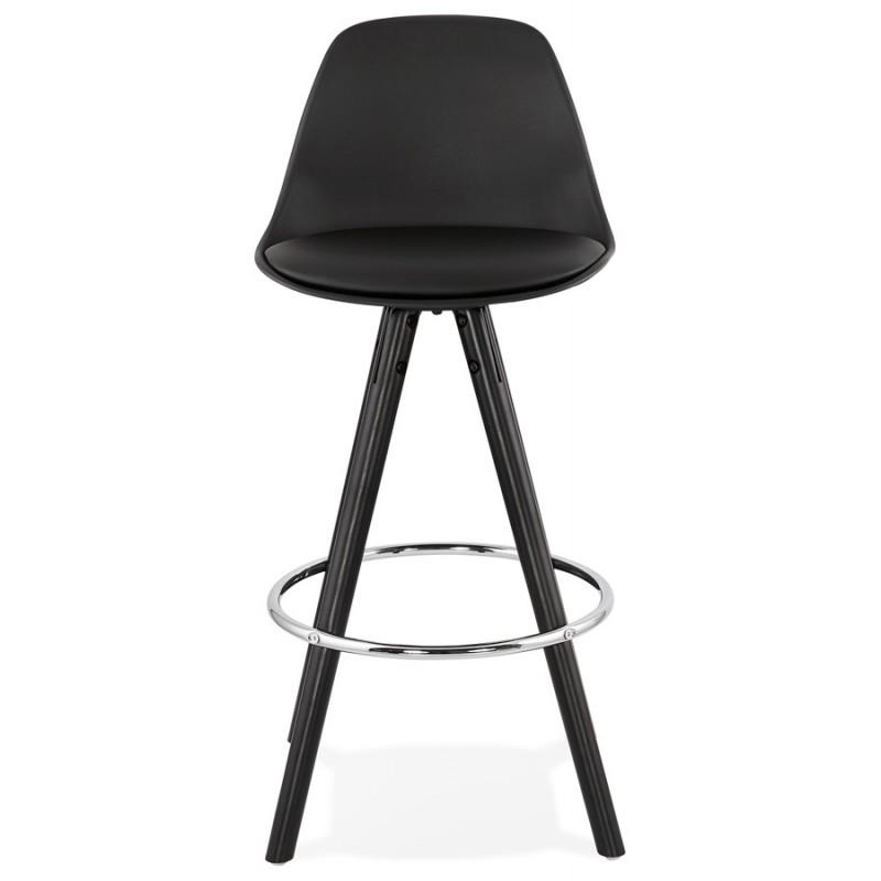 Tabouret de bar mi-hauteur design pieds noirs OCTAVE MINI (noir) - image 46372