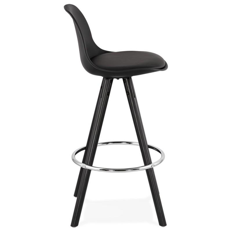 Tabouret de bar mi-hauteur design pieds noirs OCTAVE MINI (noir) - image 46373