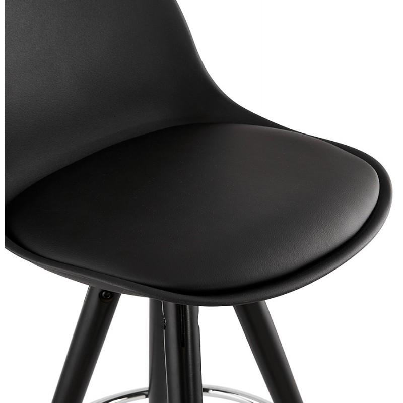 Tabouret de bar mi-hauteur design pieds noirs OCTAVE MINI (noir) - image 46377
