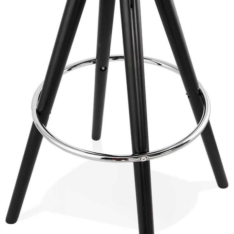 Tabouret de bar mi-hauteur design pieds noirs OCTAVE MINI (noir) - image 46381
