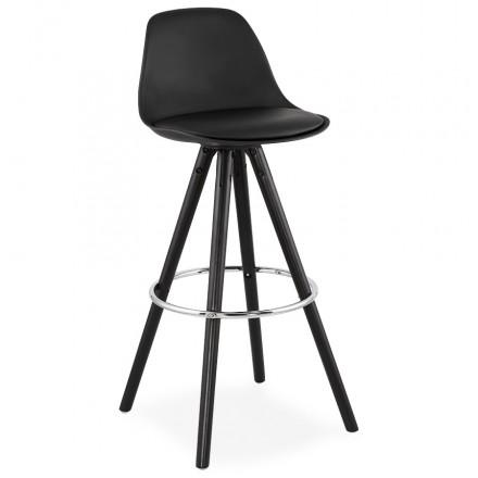 Barhocker Design schwarze Füße OCTAVE (schwarz)