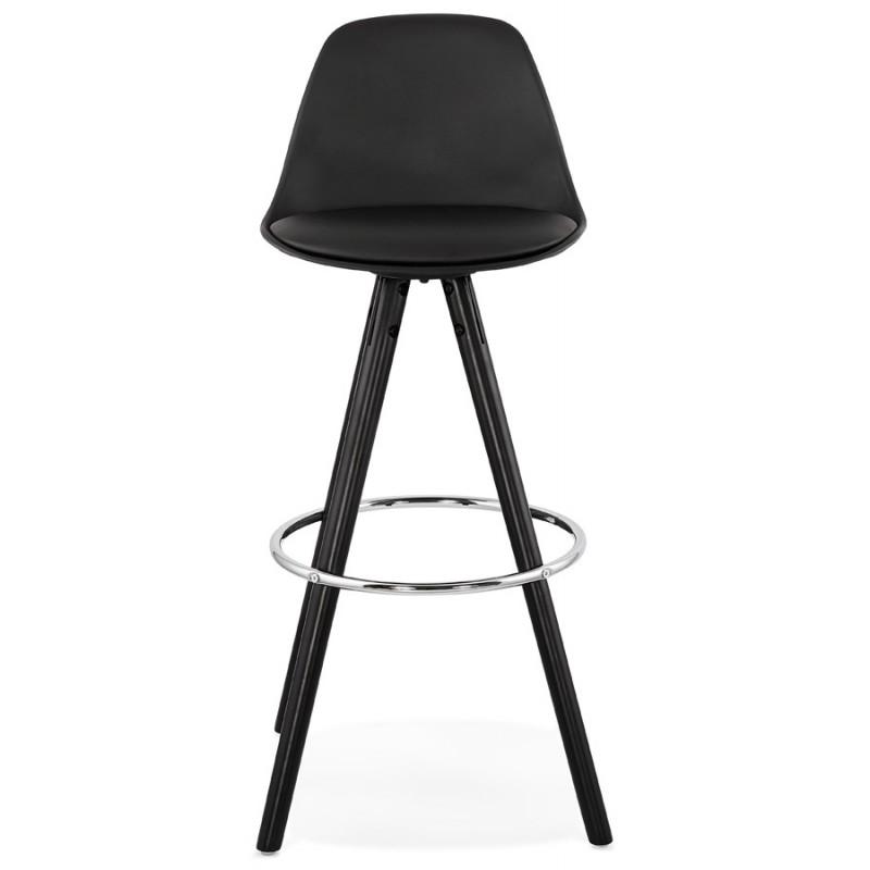 Tabouret de bar chaise de bar design pieds noirs OCTAVE (noir) - image 46384