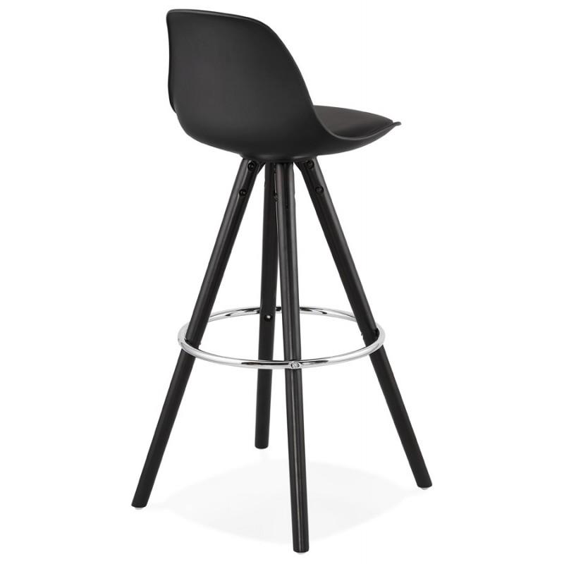 Tabouret de bar chaise de bar design pieds noirs OCTAVE (noir) - image 46386