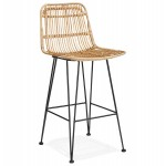 AIS MINI black-footed rattan bar stool (natural)