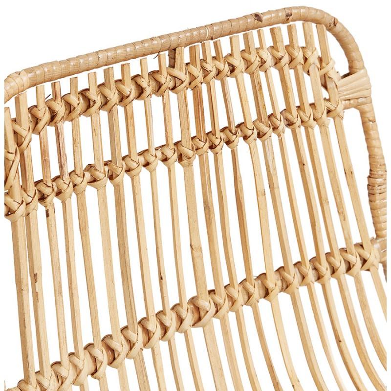 Tabouret de bar chaise de bar en rotin pieds noirs PRETTY (naturel) - image 46410