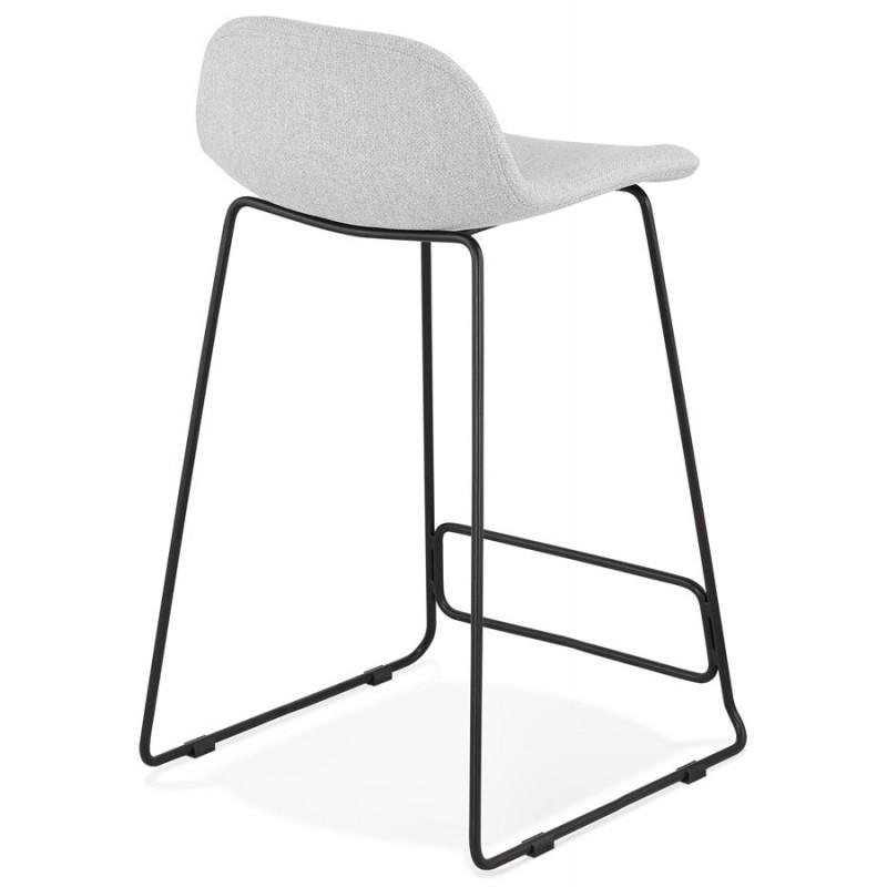 Tabouret de bar mi-hauteur industriel en tissu pieds métal noir CUTIE MINI (gris clair) - image 46438