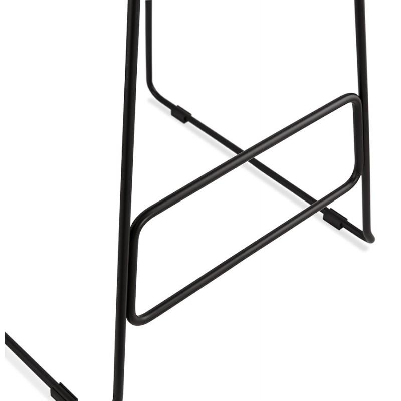 Tabouret de bar mi-hauteur industriel en tissu pieds métal noir CUTIE MINI (gris clair) - image 46444