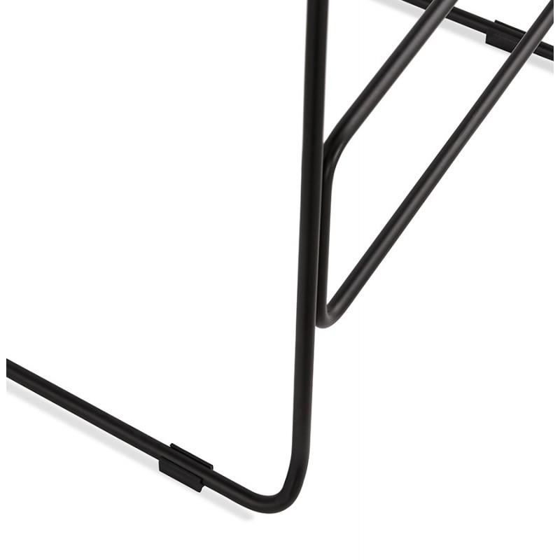 Tabouret de bar mi-hauteur industriel en tissu pieds métal noir CUTIE MINI (gris clair) - image 46445