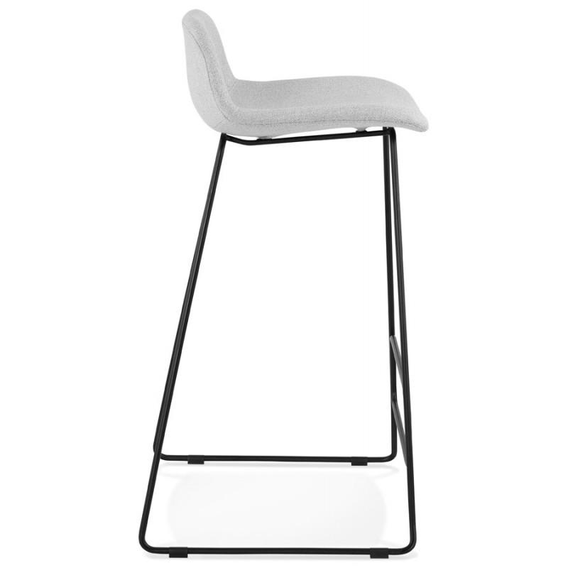 Tabouret de bar chaise de bar industriel en tissu pieds métal noir CUTIE (gris clair) - image 46449