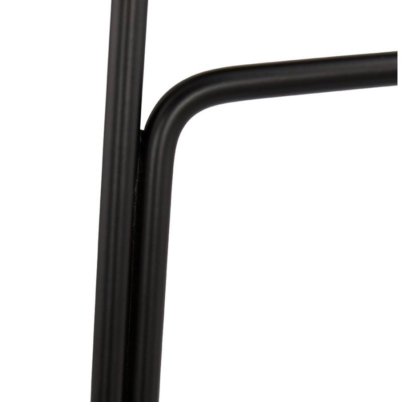 Tabouret de bar chaise de bar industriel en tissu pieds métal noir CUTIE (gris clair) - image 46455