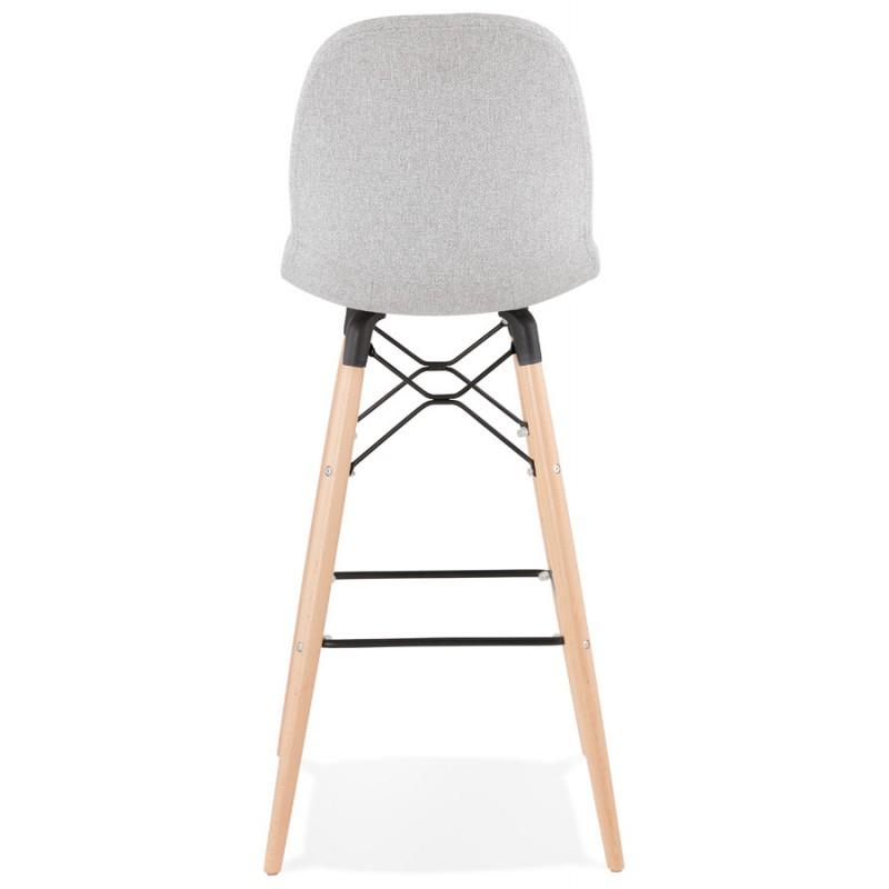 Tabouret de bar design scandinave en tissu PAOLO (gris clair) - image 46519
