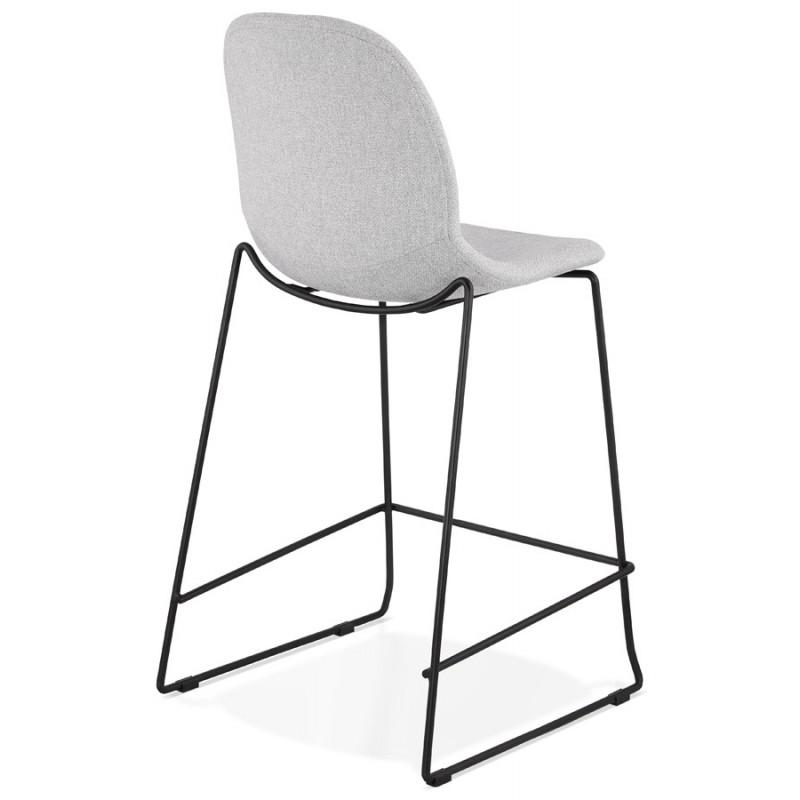 Tabouret de bar chaise de bar mi-hauteur design empilable en tissu DOLY MINI (gris clair) - image 46530