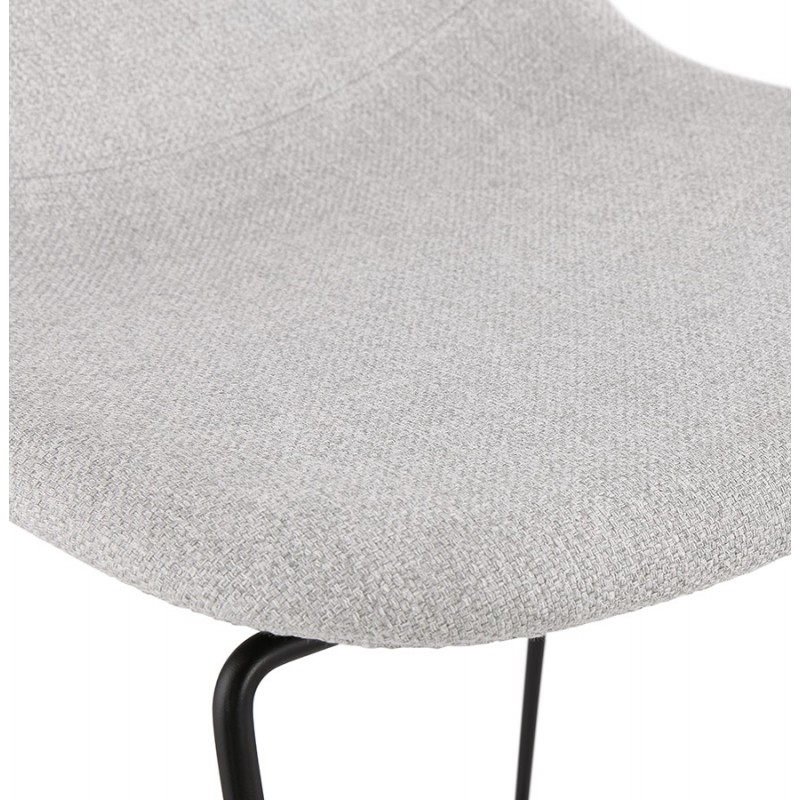 Tabouret de bar chaise de bar mi-hauteur design empilable en tissu DOLY MINI (gris clair) - image 46533