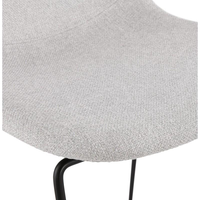 Silla de barra de bar de media altura diseño apilable en tejido DOLY MINI (gris claro) - image 46533