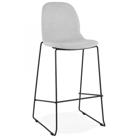 Tabouret de bar chaise de bar design empilable en tissu DOLY (gris clair)