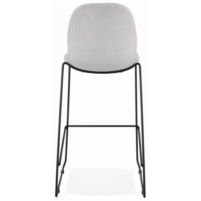 Tabouret de bar chaise de bar design empilable en tissu DOLY (gris clair) - image 46542