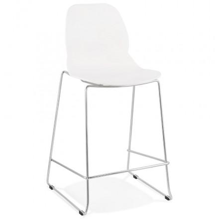 Bar bar set bar bar chair half-height stackable design JULIETTE MINI (white)
