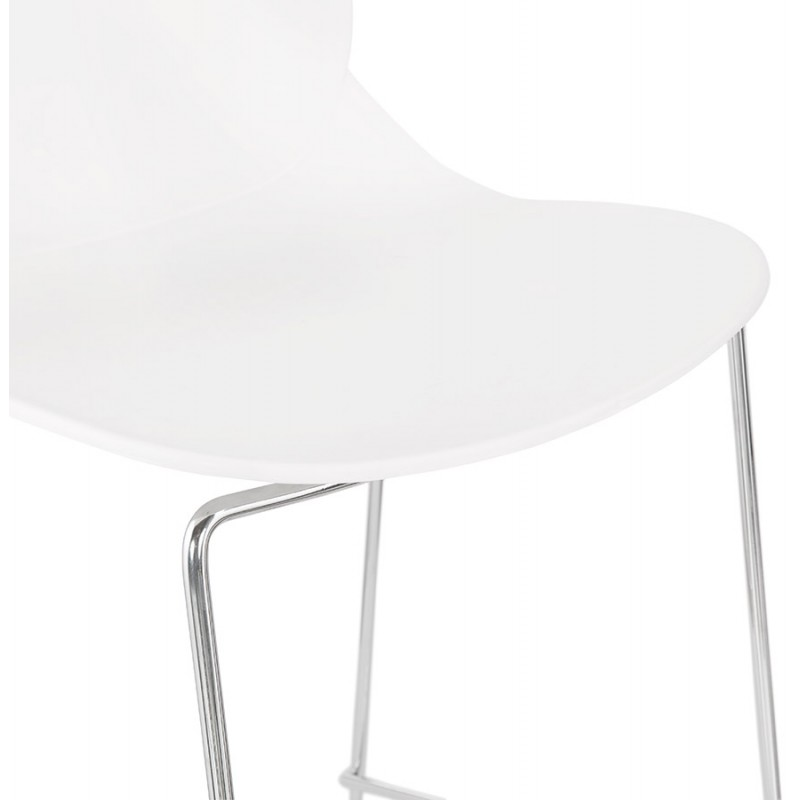 Bar bar set bar bar sedia mezza altezza design impilabile JULIETTE MINI (bianco) - image 46555