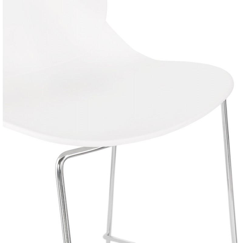 Tabouret de bar chaise de bar mi-hauteur design empilable JULIETTE MINI (blanc) - image 46555