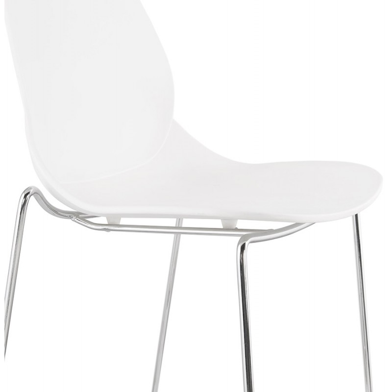 Bar bar set bar bar sedia mezza altezza design impilabile JULIETTE MINI (bianco) - image 46557
