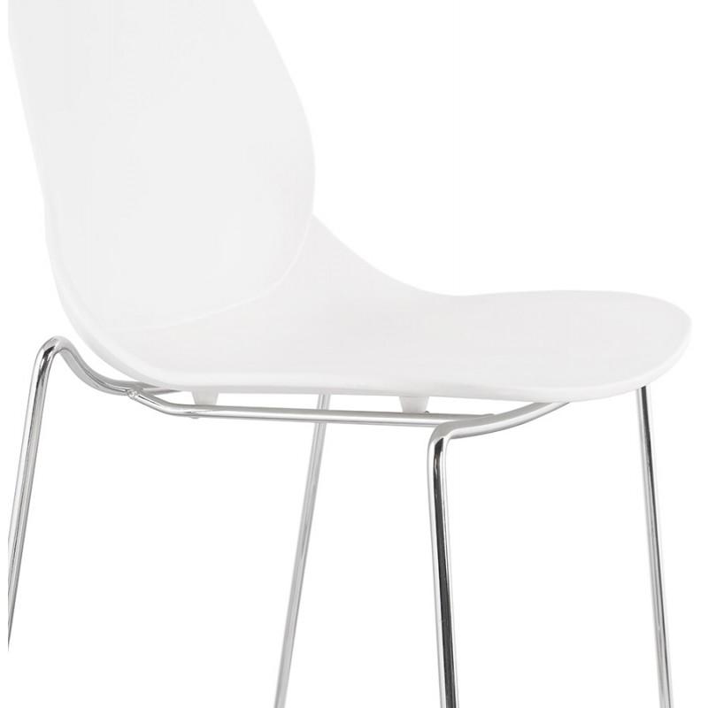 Bar bar set bar bar bar silla de media altura apilable diseño JULIETTE MINI (blanco) - image 46557