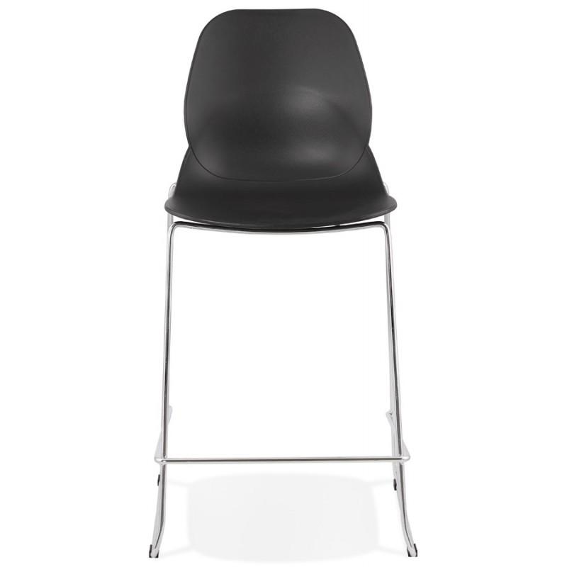 Tabouret de bar chaise de bar mi-hauteur design empilable JULIETTE MINI (noir) - image 46563